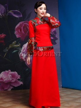 Chinese Red Dreamy Women Dress