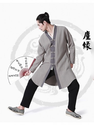 Chinese Style Grey Color Men's Clothing