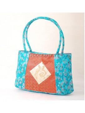 Small Floral Brocade Tote