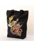 Embroidered Dragon & Eagle Canvas Bag
