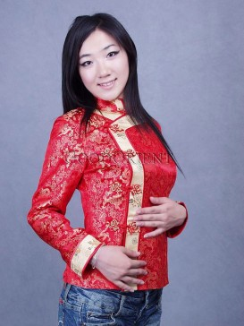 Chinese Red Happy Dragon Jacket