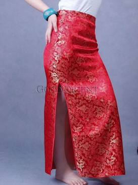 Chinese Red Happy Dragon Skirt