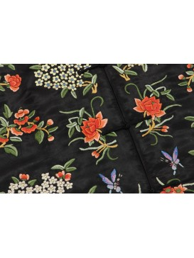 Blooming Flower Embroidered Queen Long Jacket