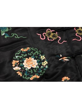 Morning Peony Embroidered Long Jacket