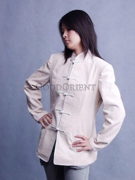 Formal Beige Velveteen Jacket