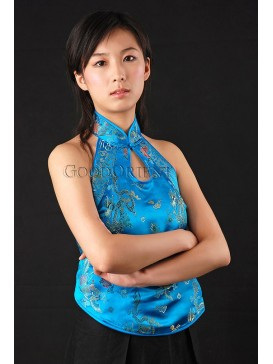 Cool Turquoise Sea Halter Top