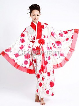 Red Passion Flower cheap japanese clothing