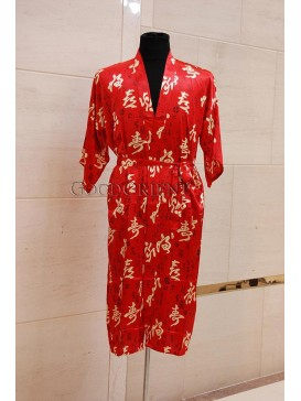Fortune & Wealth & Longevity Robe---Red