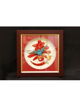 Handicraft Patchwork Decorative Frame---Bat & Shou