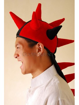 Red Eruptive Dinosaur Stuffed Hat