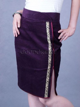 Traditional Purple Skirt