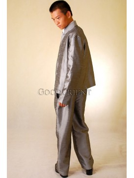 Shining Grey Thai Silk Suit