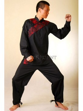 Black Cotton Kungfu Suit
