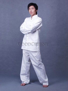 White Kungfu Matching Set