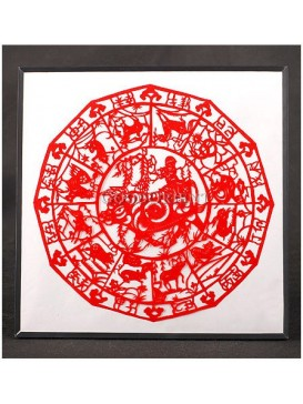 A Shepherd Boy And Chinese Zodiac Animals Handmade Papercut
