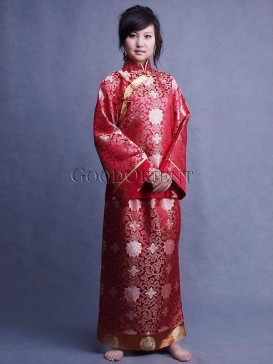 Red Butterfly Qing Dynasty Princess Matching Set