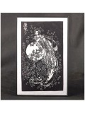 A Beautiful Godess With A Flute Flying To The Moon Handmade Papercut