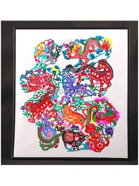 Colored Chinese Zodiac Animals Handmade Papercut