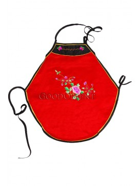 Blooming Peony Handmade Embroidered Dudou -- Red
