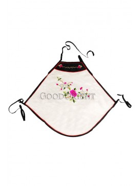 Blooming Peony Handmade Embroidered Dudou -- White