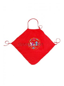 A Horse And Plums Handmade Embroidered Dudou -- China Red