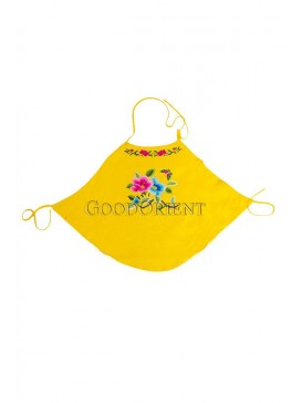 Lotus Flower and Butterfly Handmade Embroidered Dudou -- Yellow