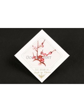 Embroidered Red Plum Blossom Silk Hankerchief