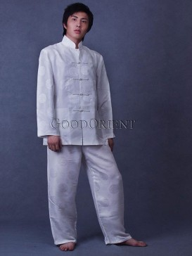 White Silk Kungfu Matching Set
