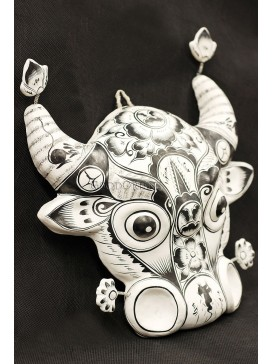 Handmade Clay Figurines --- Artistic Ox Head