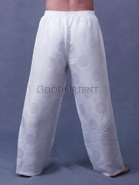 White Silk Kungfu Pants