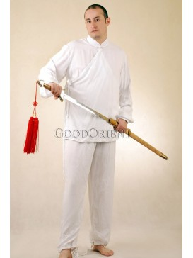 Godoorient White Cotton Kungfu Suit