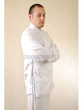 White Cotton Kungfu Shirt