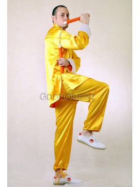 Noble Yellow Silk Taiji Suit