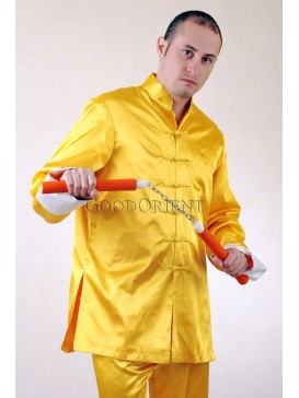 Noble Yellow Silk Taiji Shirt