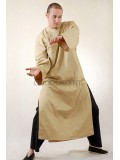 Beige Kungfu Long Chinese Clothing