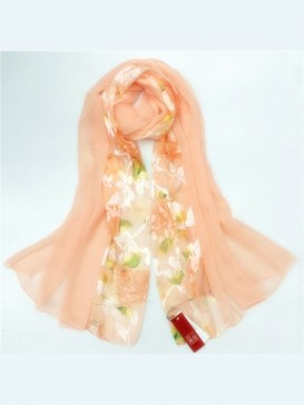 Classical Floral Silk Scarf