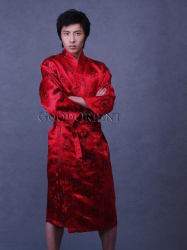 Red Calligraphy Robe