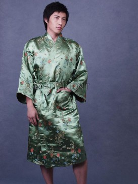 Fresh Green Floral Robe