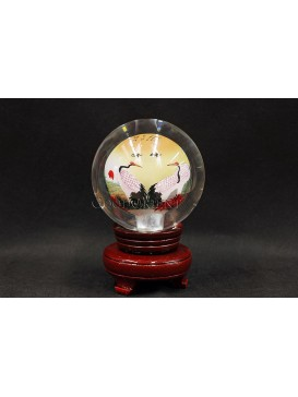 Inner Painting--Elegant And Healthy Crane Crystal Ball