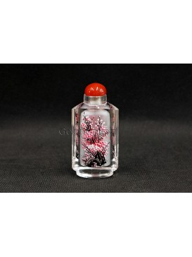 Snuff Bottle With Inside Painting--- Noble Plum Blossom