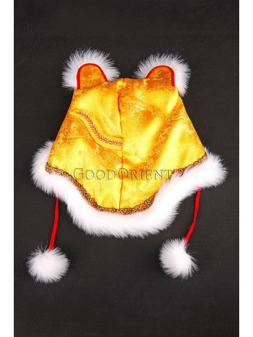 Energetic  Cotton-padded Tiger Hat -- Gold
