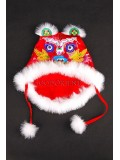 Cute Hot Red Wadded Tiger-head Hat