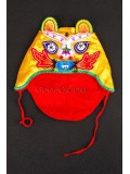 Yellow Wadded Tiger-head Hat