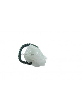 Chinese Chan Carved Jade Ring