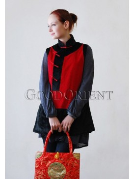 Fantastic Chinese-style Corded Velveteen Waistcoat