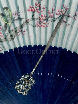 Dragon-shaped Miao Silver Hairpin