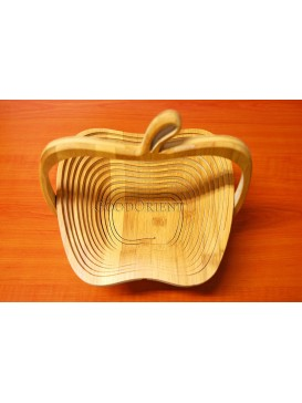 Bamboo Apple-shaped Folding Fruit Tray