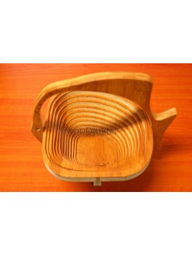 Bamboo Fish-shaped Folding Fruit Tray