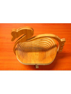 Bamboo Goose-shaped Folding Fruit Tray