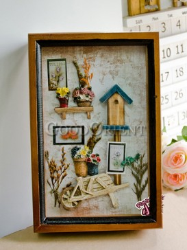 Wall painting Wood House Pattern Decoration